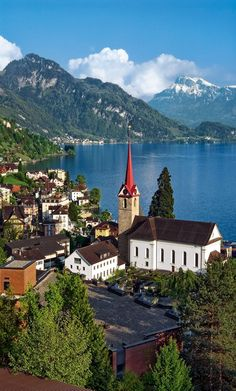 Lucerne, Switzerland, sits at the feet of the Alps-- including Mt Pilatus, which is truly one of the most breath-taking places on the planet