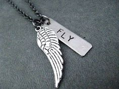 Spread your Wings and FLY  Inspirational Necklace / by TheRunHome