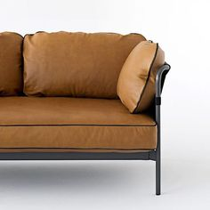 The CAN sofa by the Bouroullec brothers: 2 or 3 seater sofa and armchair - functional and comfortable Sofa Design, Hay Design, Small Furniture, Contemporary Furniture, Furniture Design, Modular Sofa Uk, 5 Seater Sofa, Aesthetic Design, Leather Sofa
