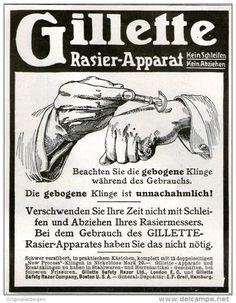 Original-Werbung/Inserat/ Anzeige 1910 - GILLETTE RASIER-APPARAT ca. 90 x 120 mm