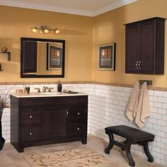 Diamond Webster Mink Espresso Transitional Bathroom Vanity (Common ...