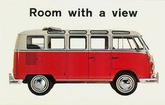Volkswagen Microbus Postcard ...LOVE this!!! LOL