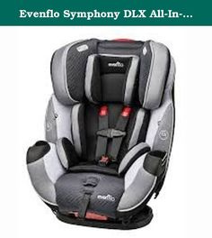 Evenflo Symphony DLX All-In-One Convertible Car Seat - Concord. The Evenflo Symphony DLX All-In-One Car Seat now offers parents superior e3 Side Impact protection to keep your child safe alongside features that help make installation as easy as possible. This All-In-One seat accommodates children ranging from 5-110 lbs. with the most innovation and value on the market. Symphony DLX provides exclusive safety features like SureLATCH technology; you simply Click, Click, Push for a super-fast...