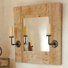 WHITCOMBE MIRROR 47X47  could totally DIY something like this for less than $600!