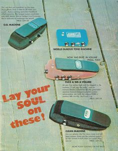 Vintage FOXX Guitar Effect Pedal Catalog Brochure RARE 1971-72