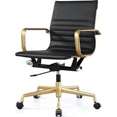 gray office chair with brass - Google Search