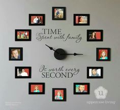 Love this clock wall ♥