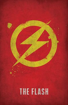 The Flash Minimlist Poster - West Graphics #comics #bandadesenhada #quadrinhos #theflash #modernistablog