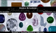 Gems + Stones Brushes by redheadstock