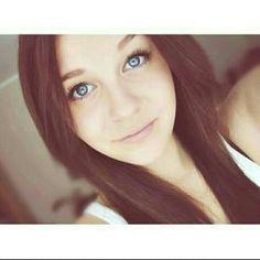Beautiful Girl Brown hair and blue eyes