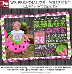printable watermelon birthday party invitation -- sarah o chic, Birthday invitations
