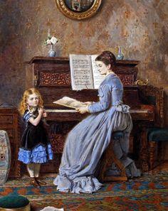 George Goodwin Kilburne - The Piano Lesson 1871