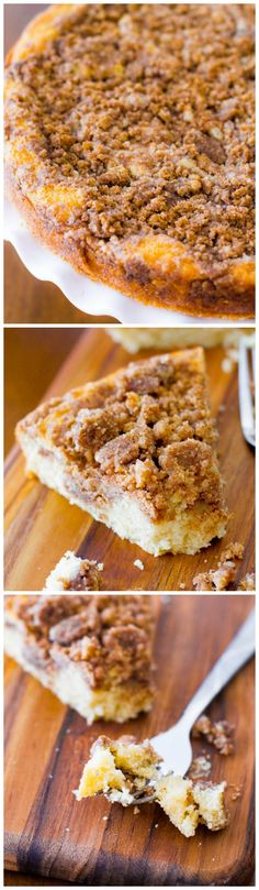 A soft, moist, tender, and easy-to-make coffee cake, very heavy on the crumb topping!