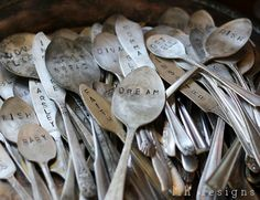 So rustic, these are hand stamped..