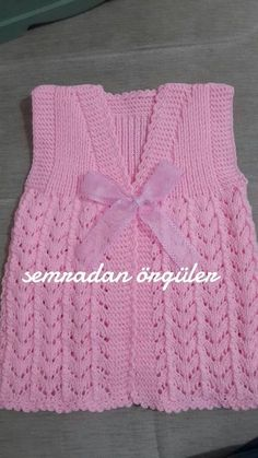 Zara's Sleeveless Cardigan Crochet pattern by Mon Petit Violon Baby Knitting Patterns, Knitting Designs, Free Knitting, Crochet Patterns, Cardigan Pattern, Baby Cardigan, Sleeveless Cardigan, Crochet Baby Clothes, Baby Sweaters