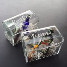 Acrylic Bridesmaid Boxes for Make Up Storage or Will you be my Bridesmaid? gift boxes. Give your Maids a Personalized gift they will actually use! We