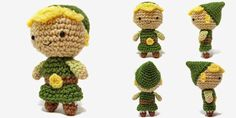 i crochet things: Free Pattern: Mini Link Amigurumi