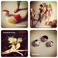 Cosas que hacer con Barbie y Ken. Lámina original de la serie El-Concepto by Alena Kh.