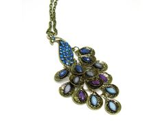 Vintage Peacock Necklace by davidoffaccessories on Etsy, $2.99