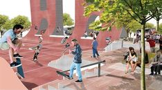Coleman Oval Skate Park Proposal / Holm Architecture Office + VM Studio,Courtesy of Holm Architecture Office + VM Studio