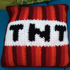 Minecraft TNT crochet