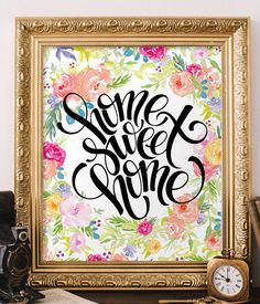 Home Sweet Home Print Inspirational Quote Print Wall Art Decor Guest Room Decorating Ideas Home Decor Be Our Guest Sign Wall Art Bd 723