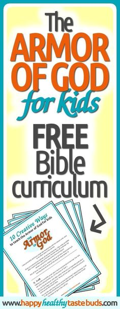 """Teach your kids the Bible with these FREE """"The Armor of God for Kids"""" lesson plans! Whether you teach Sunday School, lead Bible studies for kids, or want to teach Scripture to your own children, it's hard to think of fun object lessons, awesome activities, and cool crafts. Not with this FREE Bible curriculum! Includes hands-on learning activities, games, teaching tips, & a bonus printable. Click through to sign up now! 