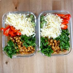 Try this tasty spicy chickpea meal prep bowl that's great for weight loss. Start meal planning and use this healthy vegetarian recipe in one of your meal plans. #mealprep #mealplan #spicychikpea #vegetarian