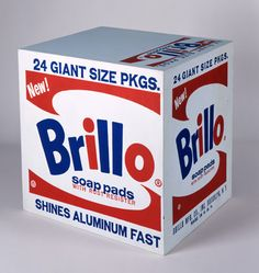 Andy Warhol (American, 1928-1987)    Brillo Soap Pads Box, 1964    silkscreen ink and house paint on plywood    17 x 17 x 14 in. (43.2 x 43.2 x 35.6 cm.)    The Andy Warhol Museum, Pittsburgh; Founding Collection, Contribution The Andy Warhol Foundation for the Visual Arts, Inc.    © The Andy Warhol Foundation for the Visual Arts, Inc.      1998.1.709