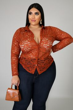 Lace Get Together Top Curvy Women Outfits, Curvy Women Fashion, Sexy Outfits, Fashion Outfits, Clothes For Women, Thick Girl Fashion, Trendy Plus Size Fashion, Full Figure Fashion, Lace Tops
