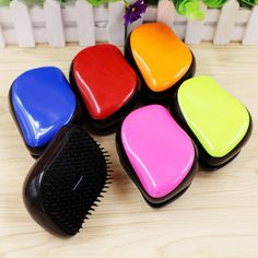 Magic Hair Comb Brush Detangling Handle Tangle Shower Hair Brush Comb Colorful Massage Hair Styling Tool