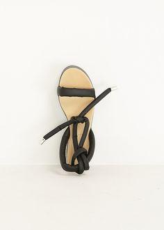 MM6 Maison Martin Margiela Tie Wedge Sandal (Black)