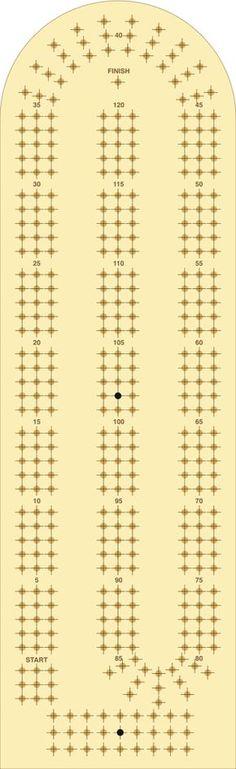 Vibrant image in printable cribbage board templates