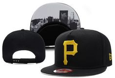 MLB Pittsburgh Pirates Black Snapback Brim Under City Logo|only US$6.00 - follow me to pick up couopons.