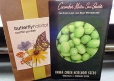 Butterfly weed and Cucamelons, a social media group growing event.