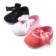 ea55b81202fb Brandwen Black Red White Bowknot Baby Girl Spring Summer Shoes Toddler  Prewalker Anti Slip First Walker Simple Baby Casual Shoes-in First Walkers  from ...