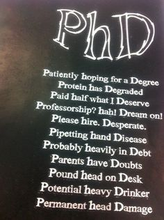 still want that PhD? ;) la 3, 4, 5 e la penultima sono dannatamente vere!