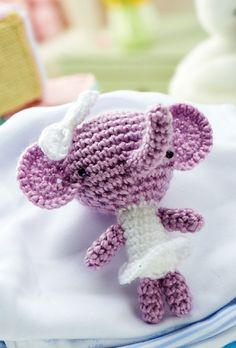 """Penny the Elephant Free Amigurumi Pattern  (You will need to be registered with """"Let's Knit"""" to open the files, just click the Blue Box """"Sign Up to Download Pattern"""" to fill register form) ( PDF File Zip format)  http://www.letsknit.co.uk/free-knitting-patterns/penny-the-elephant"""