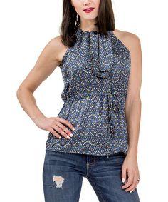 Look what I found on #zulily! Blue Daisy Sleeveless Top - Women by Amelia #zulilyfinds