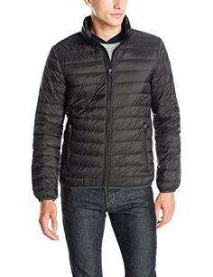 Armani Jeans Men's Packable Down Jacket, Black,  Large