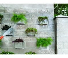 Jardim vertical com blocos Ecológicos de concreto  www.lajlucas.com.br