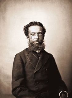 Machado de Assis photographed by Marc Ferrez in the late 19th century.