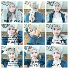 Papasemar.com | 11 Tutorial Hijab Segi Four Simple It Will Make You Add Graceful and Beautiful - Papasemar.com