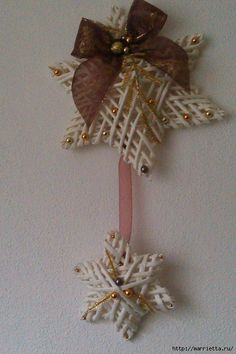плетение из газет. рождественские идеи (42) (466x700, 284Kb)