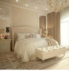 50 Luxury Bedroom Design Ideas that you Definitely want for your Dream Home - Bedroom Decoration - Luxury Bedroom Design, Master Bedroom Design, Interior Design, Master Suite, Design Interiors, Bedroom Designs, Luxury Bedroom Furniture, Luxury Decor, Bedroom Apartment