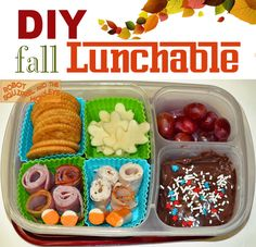 """Make your own """"Lunchables"""" with compartmentalized containers by EasyLunchboxes®"""