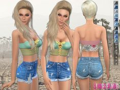 sims2fanbg's 52 - Denim shorts