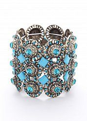 Turquoise and silver bracelet go together like peanut butter and jelly...only much better.