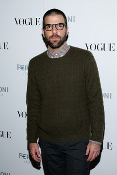 Zachary Quinto attends The Visionary World of Vogue Italia Exhibition Opening Night presented by Peroni Nastro Azzurro on October 14, 2014 in New York City.