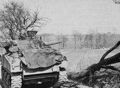 "American tank M4A3 «Sherman"" 761-th separate tank battalion in France"